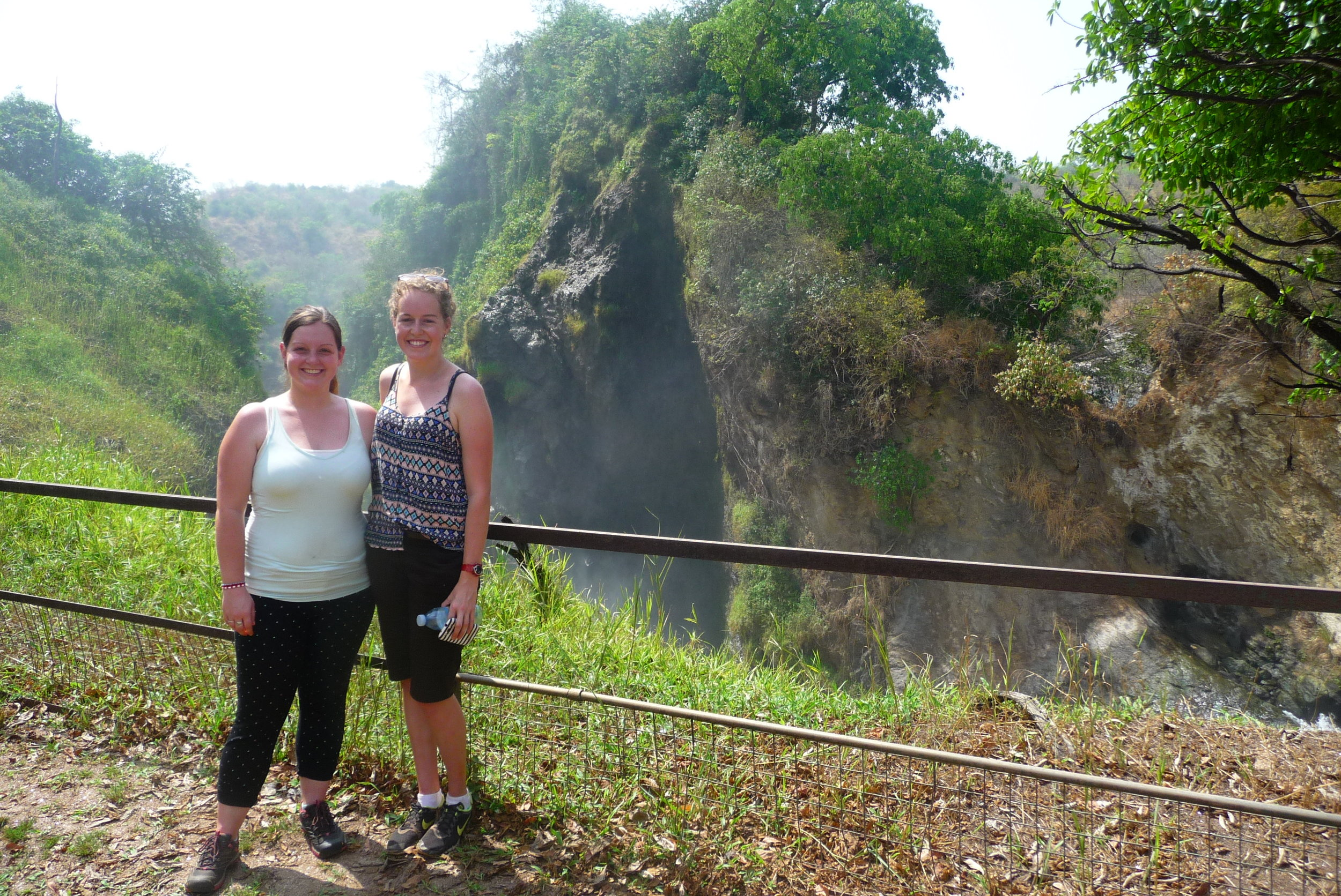 Kate and Vivienne at Murchison Falls