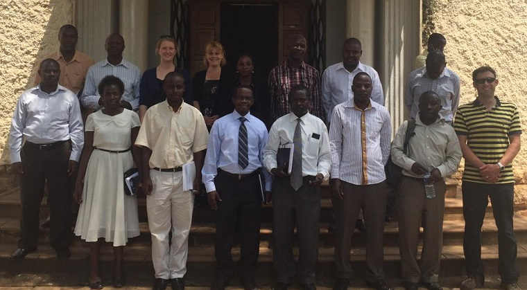 IHACC team with Makerere University's Geography Department in Kampala