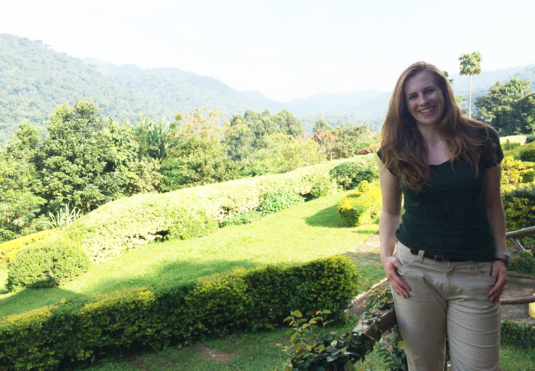 Sarah MacVicar, and a view of Biwindi Impenetrable Forest.