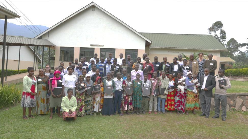 Group photo of workshop participants and facilitators, Uganda Nursing School Bwindi, Buhoma.
