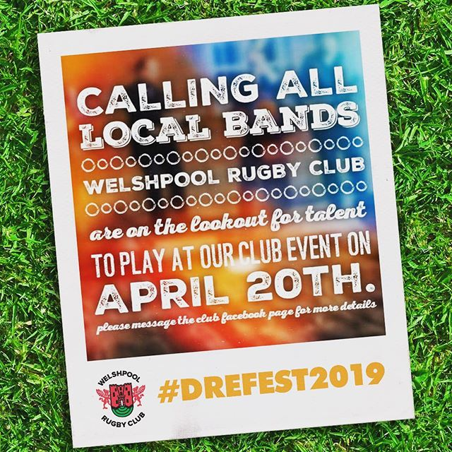 We're looking for local bands to play at our newly christened #drefest2019 stage at our Hog Roast + Club Day on Saturday April 20th. 🏉👉 Please share and tag any local talent 🎤🥁🎸🎹