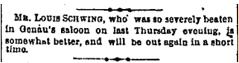 Cincinnati Enquirer , April 26th, 1879. Courtesy of the Public Library of Cincinnati and Hamilton County