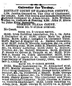 Cincinnati Enquirer , February 23rd, 1881. Courtesy of the Public Library of Cincinnati and Hamilton County.