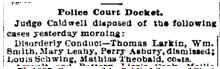 Cincinnati Enquirer , August 7th, 1887. Courtesy of the Public Library of Cincinnati and Hamilton County.