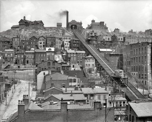 A booming industrial Cincinnati in 1909. Courtesy of Shorpy.com.