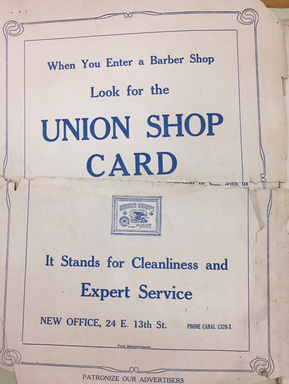 One of the ways that Union shops encouraged customer loyalty. Courtesy of Blegen Library, University of Cincinnati.