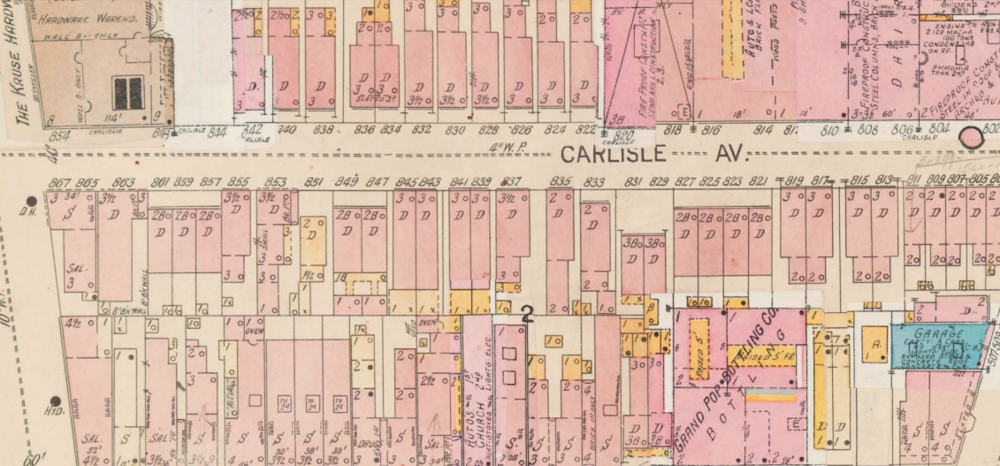 In the once-dense West End, the Besters lived at 843 Carlisle Ave. for decades prior to its razing. Courtesy of the Public Library of Cincinnati and Hamilton County.