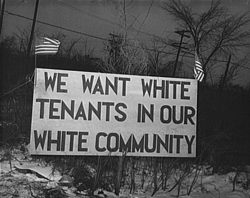 Detroit, 1942. A good reminder that the south wasn't the only problem in America in these years. Courtesy of Thomas Sugrue,  The Origins of the Urban Crisis , 74.