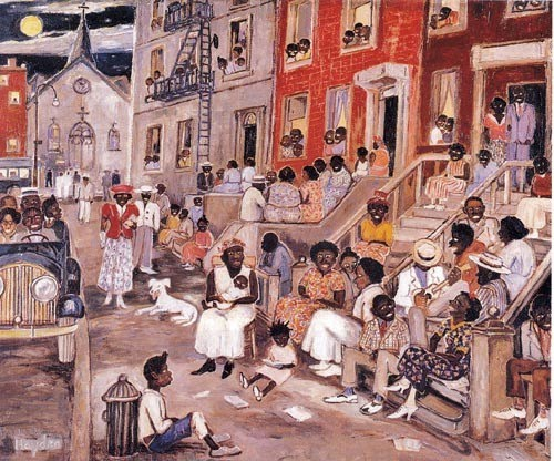 "Palmer C. Hayden's ""A Midsummer Night in Harlem,"" illustrating how much of an African American community and cultural epicenter it was during the 1920s. Courtesy of the Digital Public Library of America."