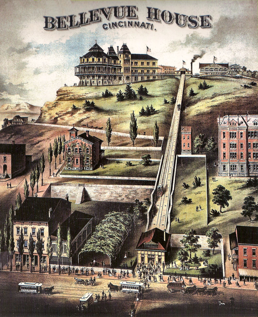 A rendering of the Bellevue Incline. Can you imagine living just opposite this? Courtesy of CIncinnatiVewis.net.