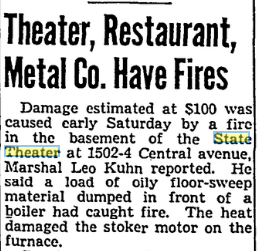 Another fire . Cincinnati Post , August 19, 1944. Courtesy of the Public Library of Cincinnati and Hamilton County.