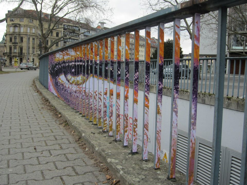 Plumpeye by zebrating fence art