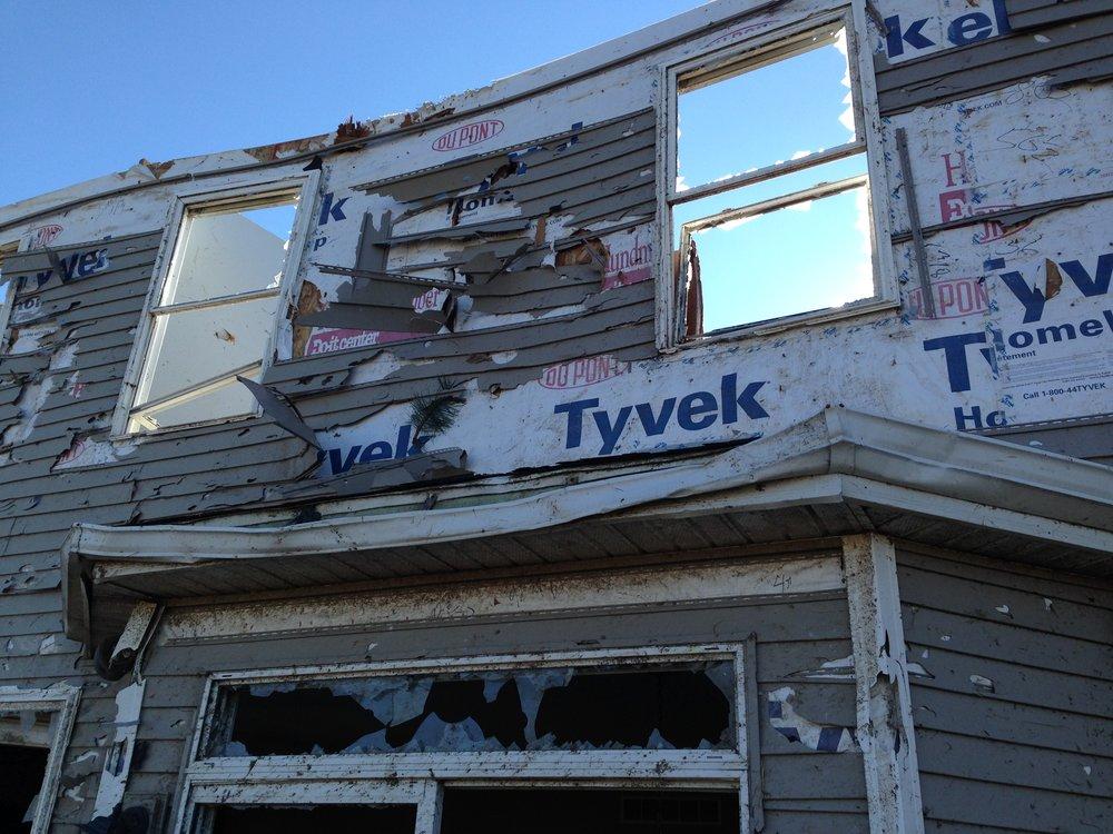 Sara's family members' tornado damaged home