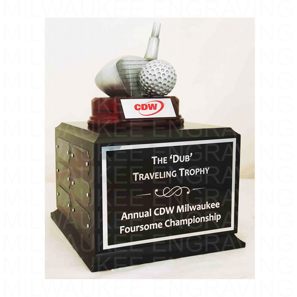 custom trophy, golf trophy, engraved