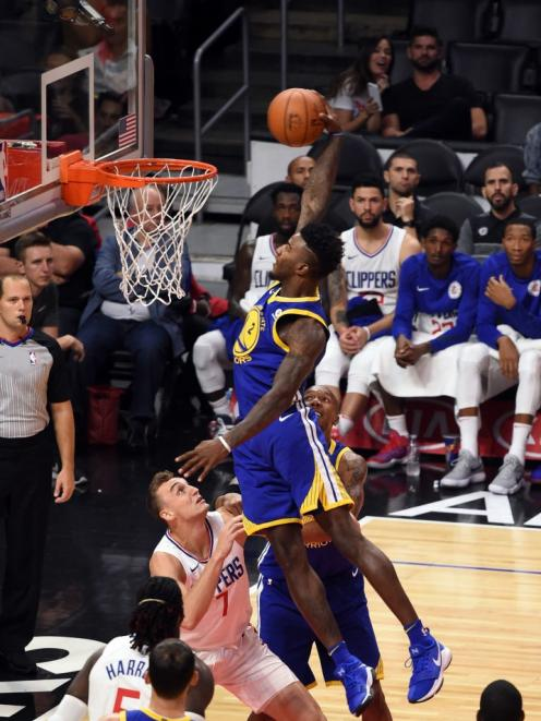 7477cd1478f6ac Jordan Bell with the putback vs the Clippers October 30