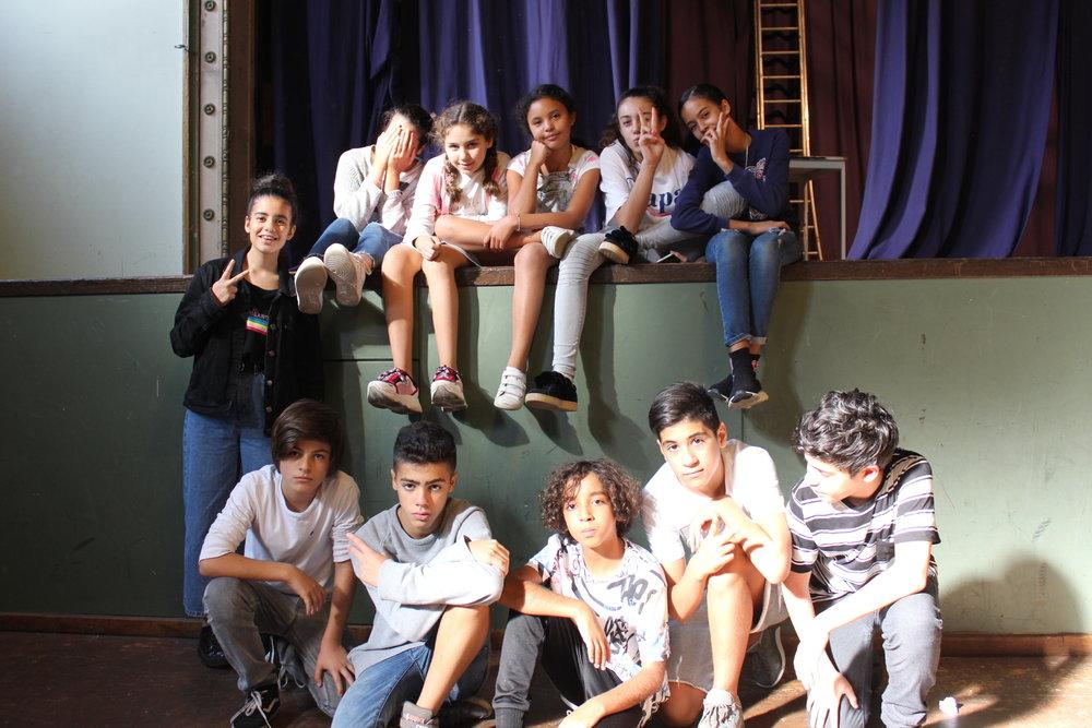 """Onze kids tijdens een van onze workshops """"AML"""""""
