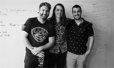 Darryl James (left) and Jordan Paul (centre) pictured with Khalid Yassein of Wild Rivers.  Photo by SOCAN ©2017.    Read more