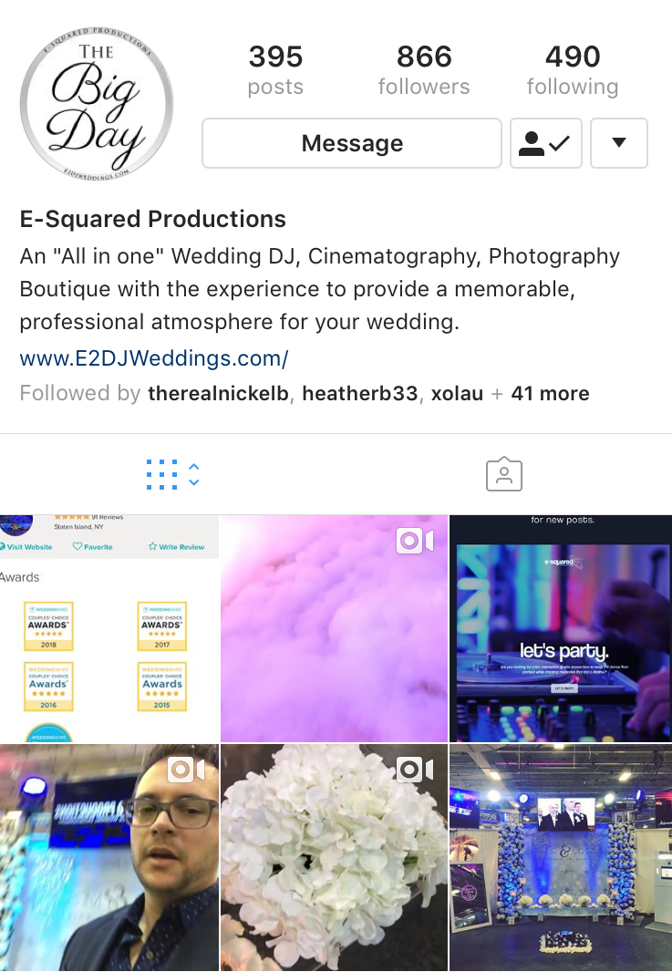 vISIT OUR WEDDING INSTAGRAM - Follow us for photos, videos & more!