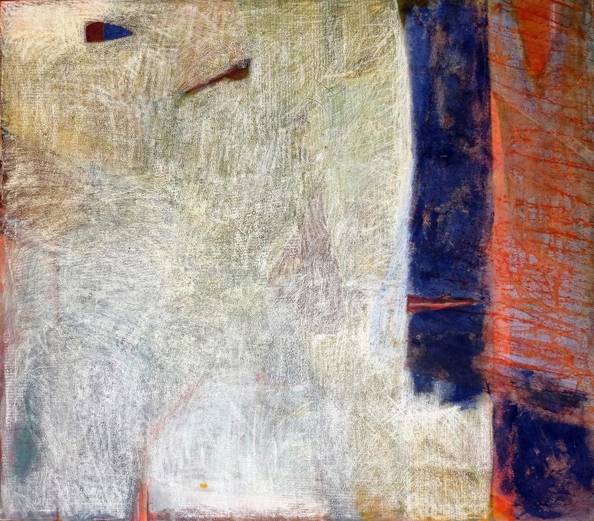 Klang, 2001, Acrylic, oil pastel, soft pastel on canvas, 140 x 160 cm, Toronto, Canada