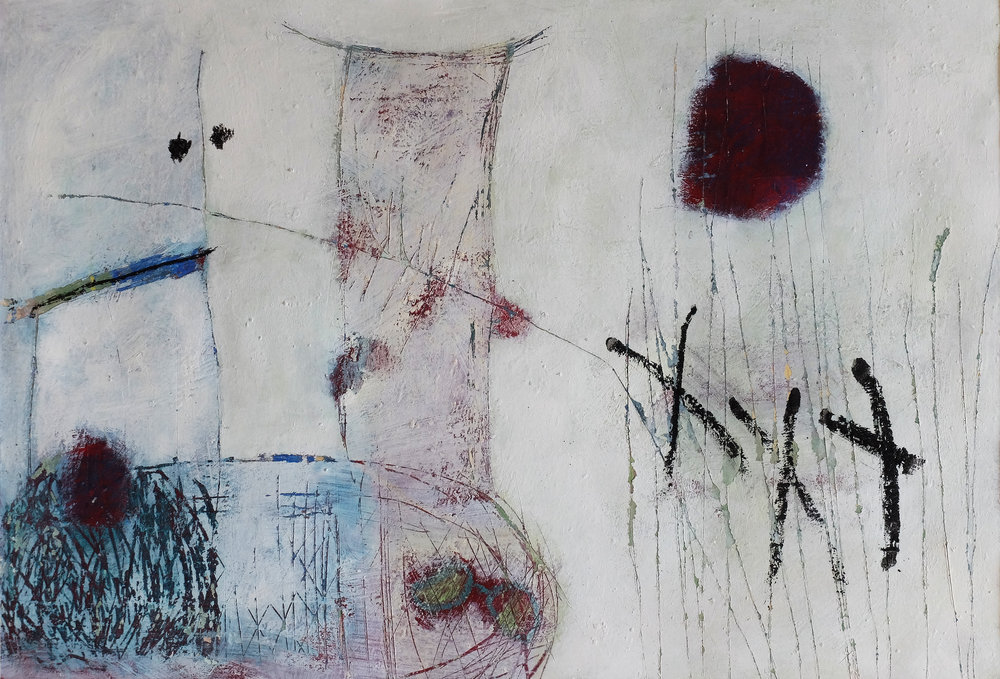 Untitled 8, 2011, Acrylic, oil pastel on paper, 27,5 x 40,5 cm