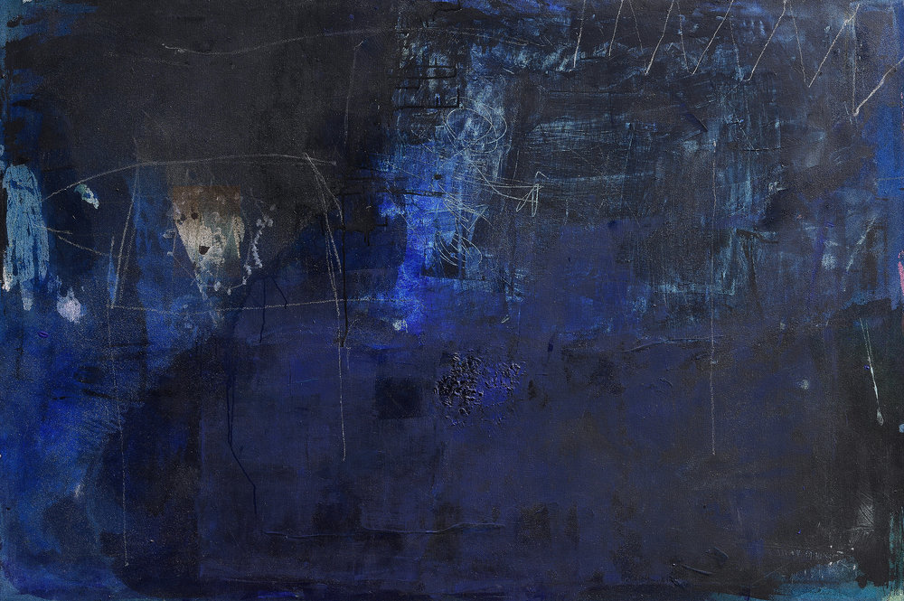 Untitled 21, Acrylic, oil pastel, coloured pencil on canvas, 120 x 140 cm, Detmold, Germany
