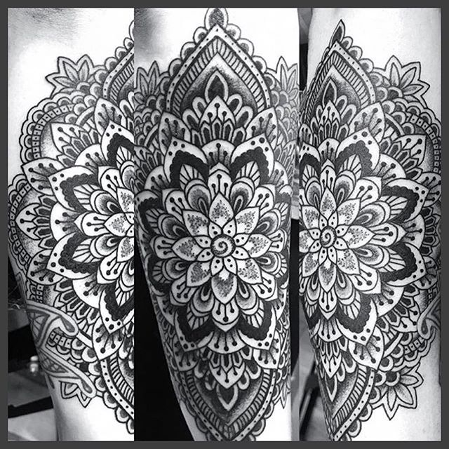 Mandala by Mark Stewart @tatswalmark Open 7 Days A Week. Walkins & Appointments welcome Everyday. Stop by or contact us #360.755.1391 Email: triumphtattoo6@gmail.com #skagitvalley #tattoo #skagit #pnw #triumphtattoo #theoriginaltriumphtattoo #whidbeyisland #sedro #oakharbor #sedrowoolley #skagittattoos #mandalatattoo