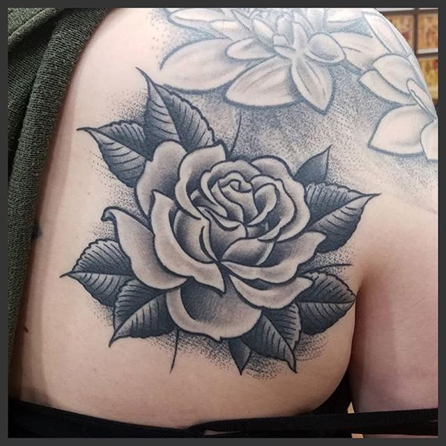 Healed photo of a rose tattoo done by Dustin Barnes @tattoosmakeyoutough We are Open 7 Days a Week, Walkins and Appointments welcome Everyday! Stop by or contact us at #360.755.1391 www.triumphtattoo.com Email: triumphtattoo6@gmail.com #pnw #burlingtonwa #theoriginaltriumphtattoo #triumphtattoo #skagit #oakharbor #whidbeyisland #sedro #sedrowoolley #rose #rosetattoo #tattoo #tattoos #blacktattoo