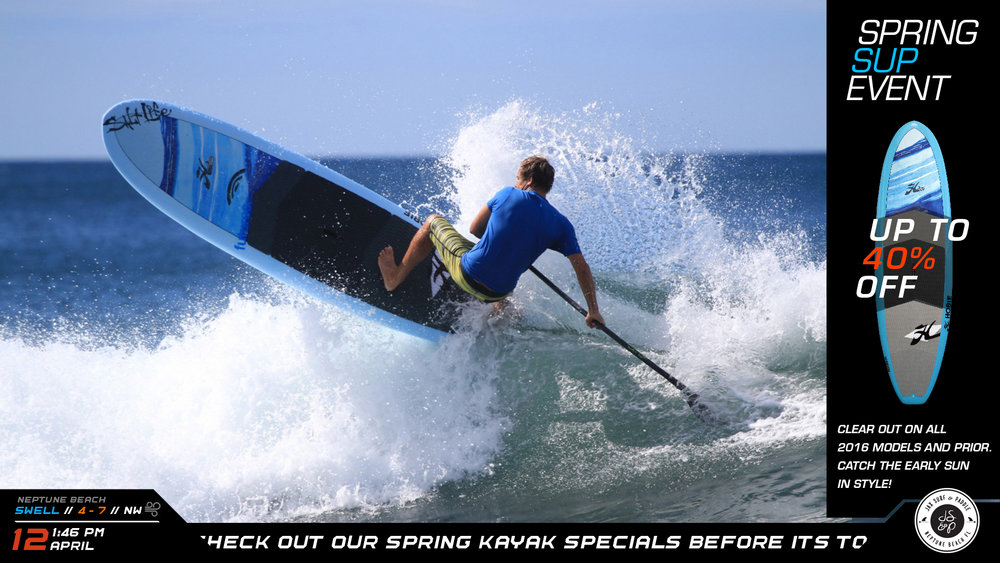 In Store sales l-bracket Digital Signage for surf and paddleboard