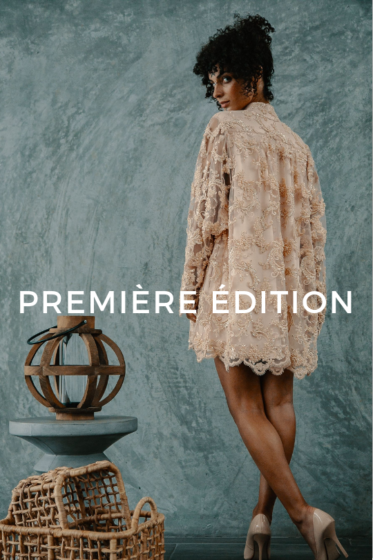 CLick here to shop Mina Binebine's Première édition, Moroccan-inspired clothing.