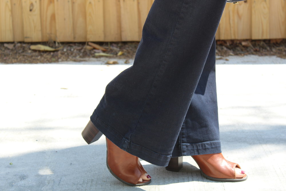 A pair of jeans and shoes from Buffalo Exchange just under $20.