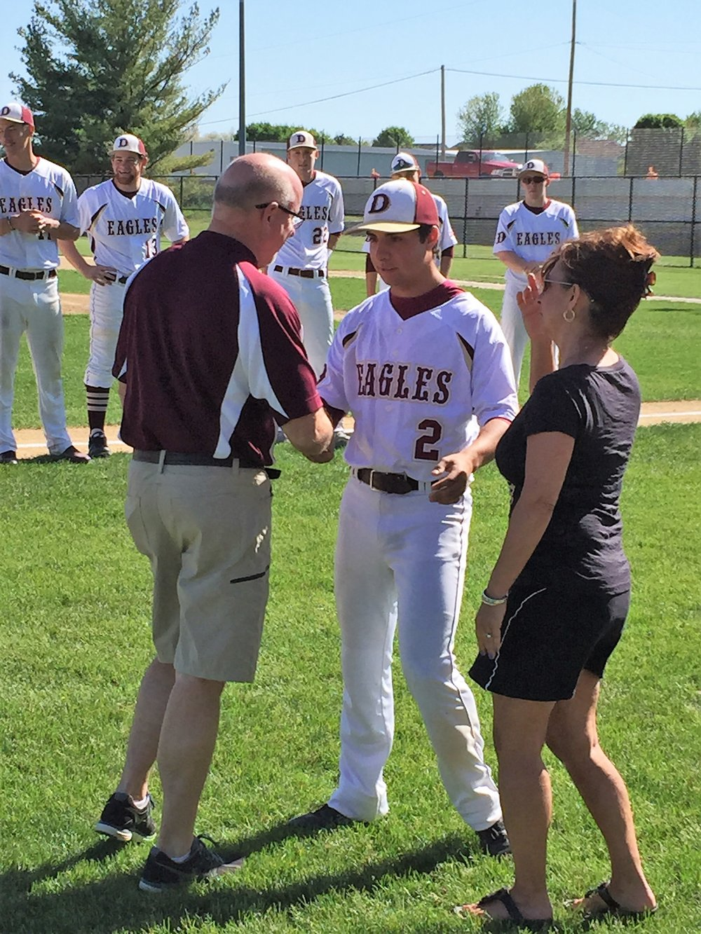 May 18, 2015. Ed and Theresa were so proud of Nick on Senior night.