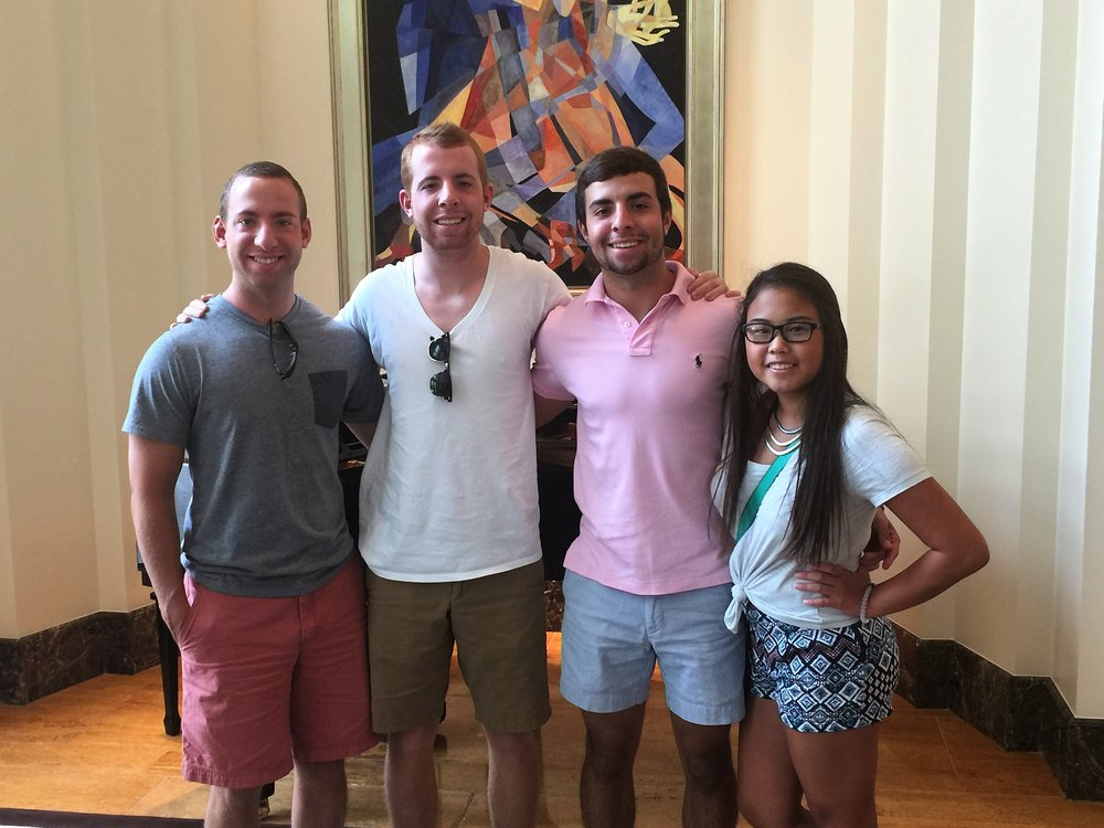 July 19, 2015. Grant, Alec, Nick and Laney. Nick was already slimming out and bulking up.