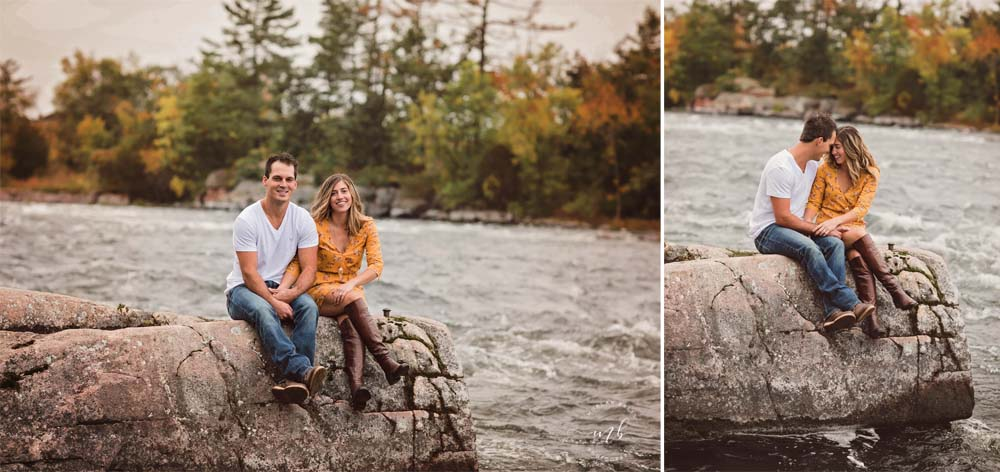 Morgan Bress Photography | Lindsay Wedding Photographer | Engagement Session with Dog | Kawartha Lakes Wedding Photographer | Ontario Wedding Photographer |  Burleigh Falls, Ontario | Waterfall Engagement