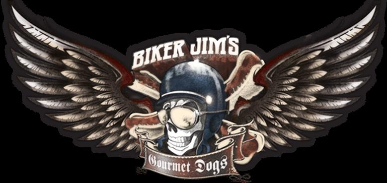 Biker Jim's Gourmet Hotdogs Logo