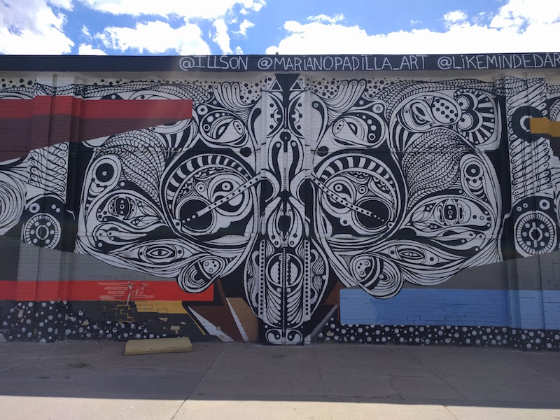 Street mural in Rino Denver