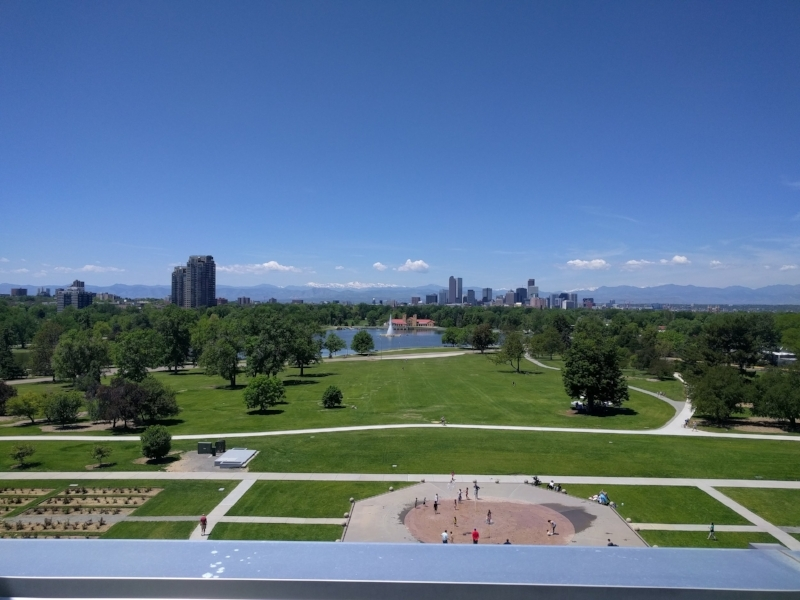 The view of downtown Denver from the Museum of Nature & Science