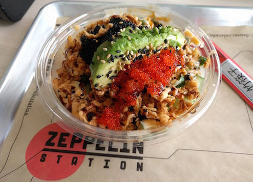 Poke bowl from Zeppelin Station in RiNo