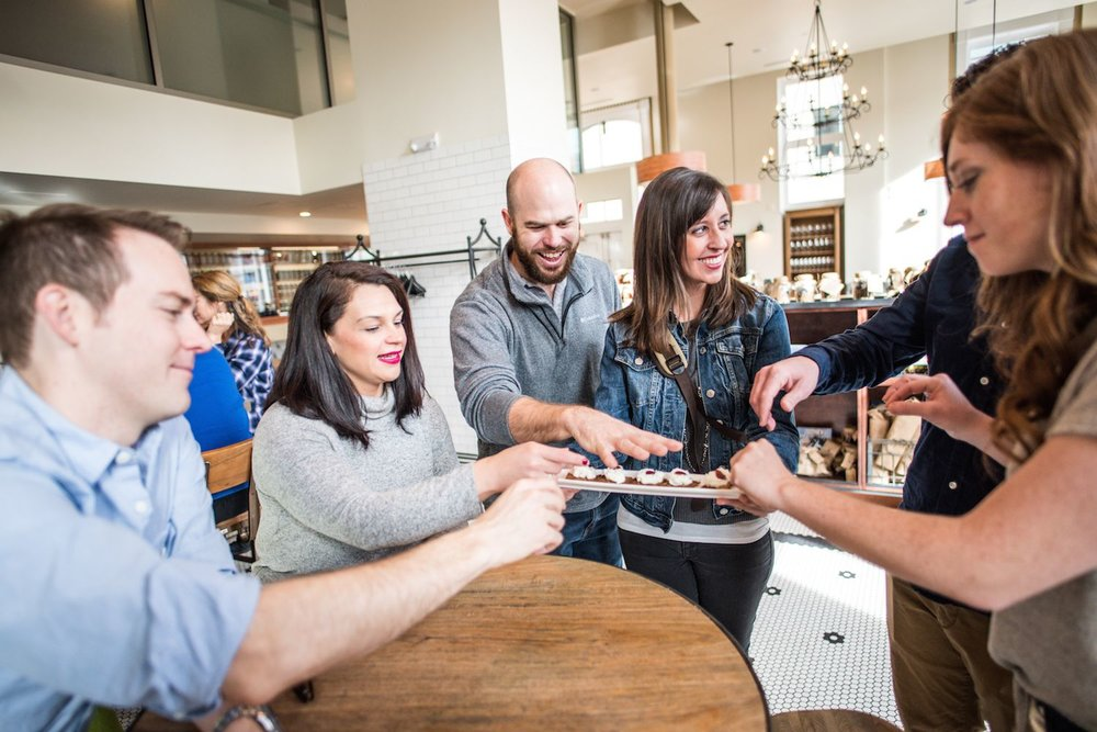 Denver food tour guests at Mercantile Dining and Provisions