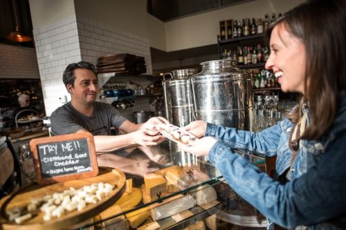 Food tour guide at Mercantile Dining and Provisions in Denver Colorado
