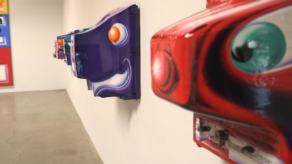 Kenny Scharf's 3D Cartoon creations in exhibition.jpg