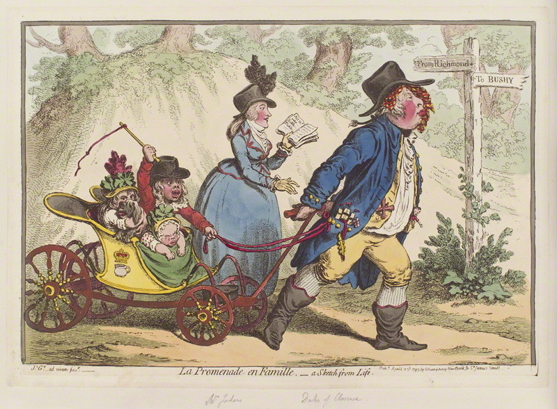 La Promenade en Famille. Courtesy of The Lewis Walpole Library, Yale University