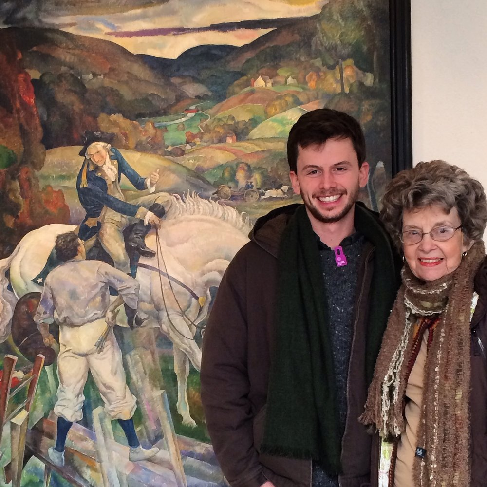 Articulate P roducer, Aaron Lemle, with his grandmother, realist painter Ann Mount.