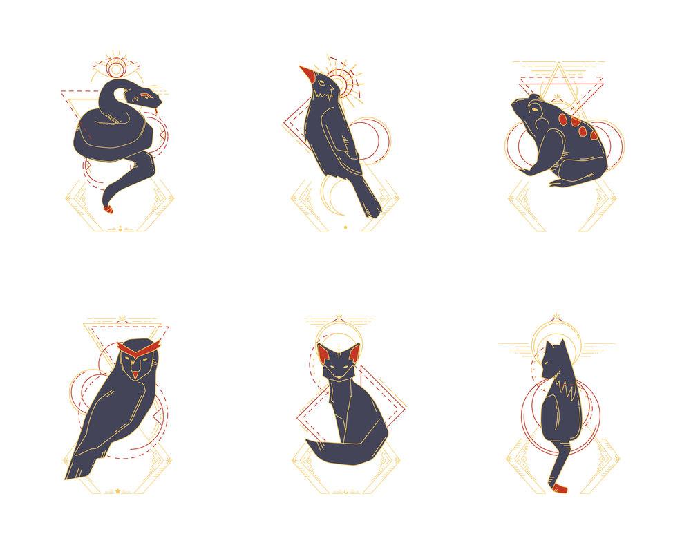 Crow'k Animal Illustrations