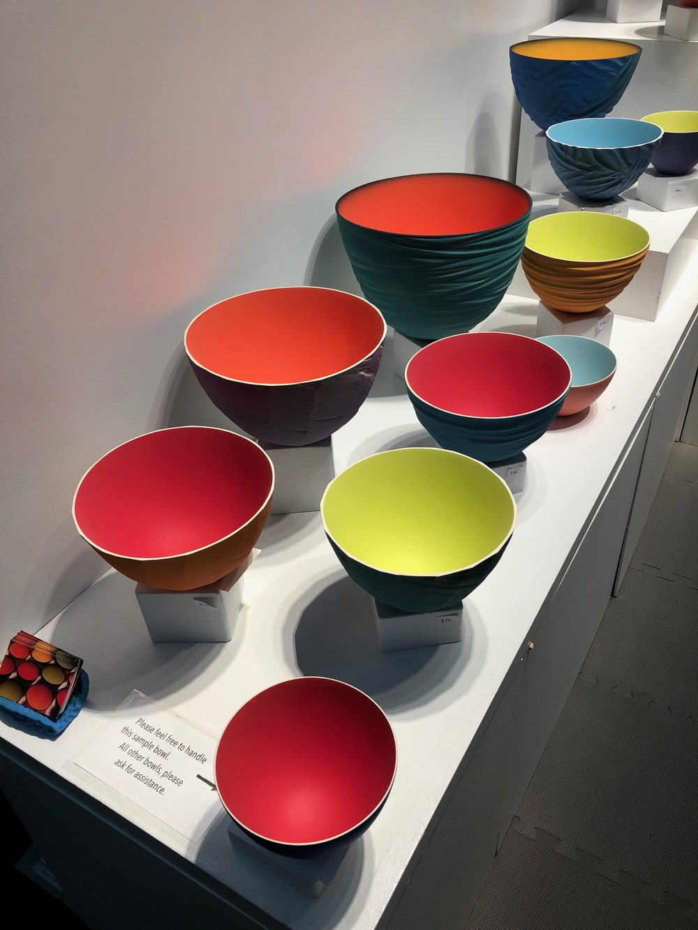 thomas marrison   's bowls remind me of james turrell's light exhibit at mass moca