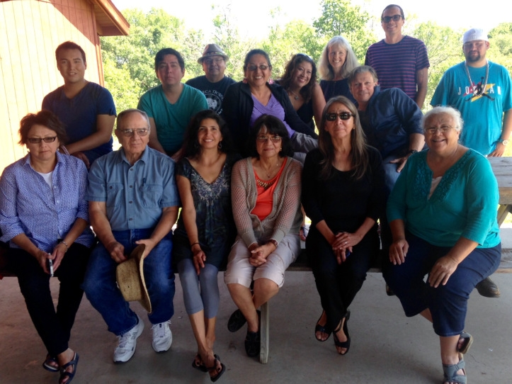 Attendees of the Oak Lake Writers Society 2015 retreat. Retreats are held annually and are the backbone of the society.
