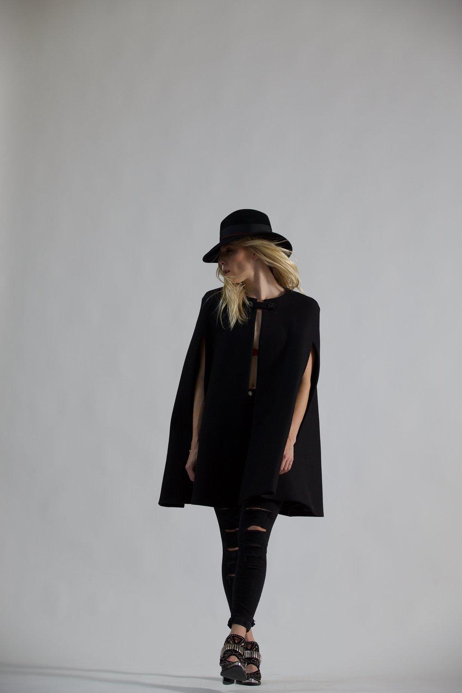 Zara cape + Jeffrey Campbell boots + Goorin Bros hat = RAD