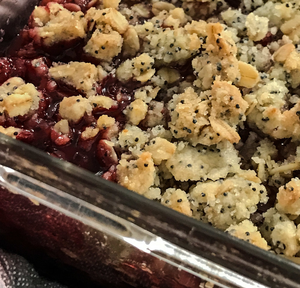 Hot Strawberry Crumble
