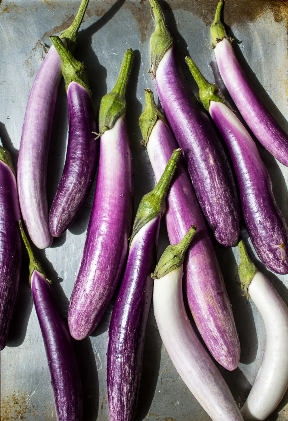 Bride eggplant before roasting.
