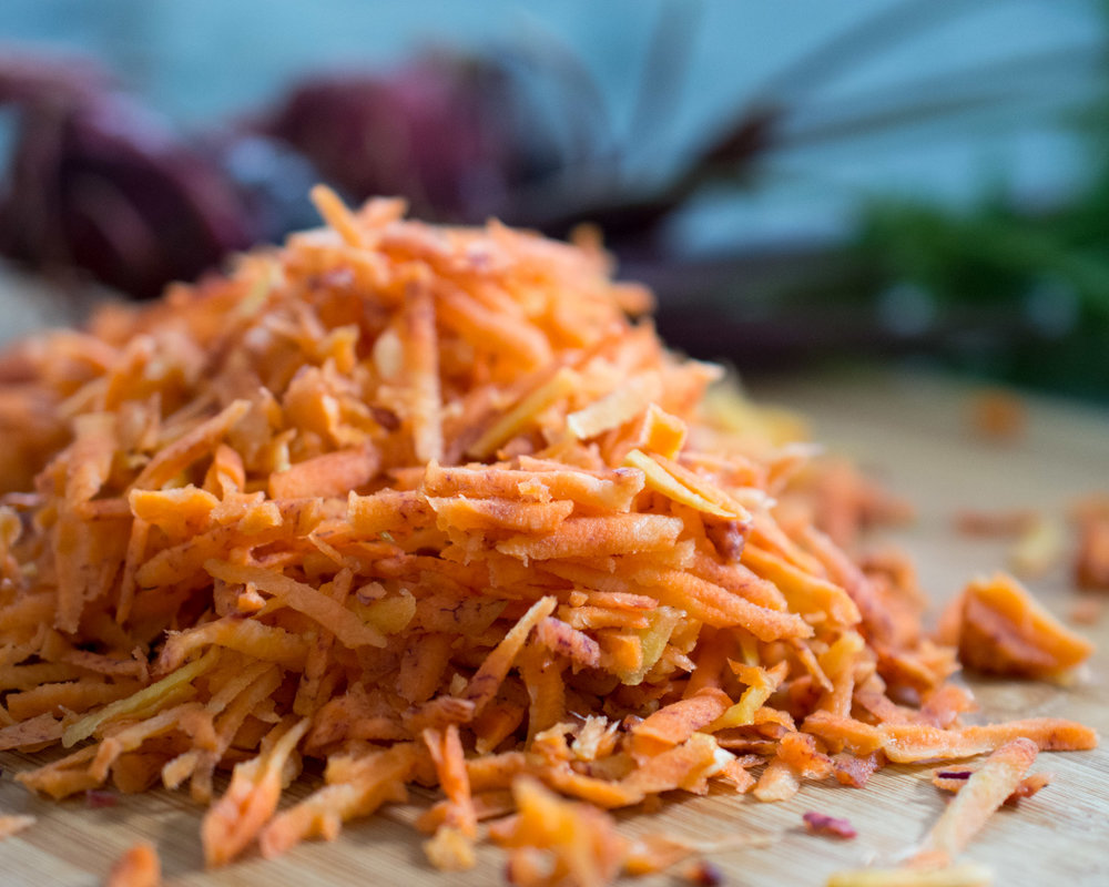 Fresh grated carrots - no one will now they were not perfect!