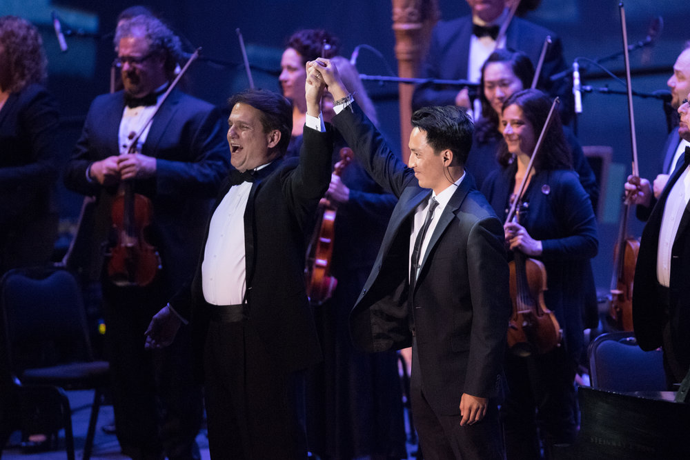 Chris with Keith Lockhart and Boston Pops